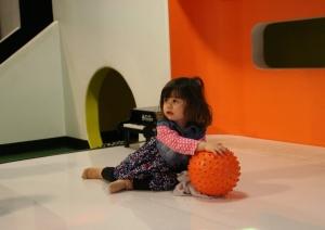 Zoe having a ball...