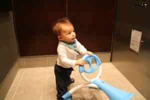 City boy - riding the elevator
