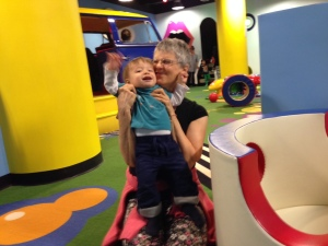 "Sean and me (alias ""Gummy"") at the indoor playground"